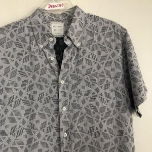 Billy Reid Short Sleeve Button Down Stripe Shirt